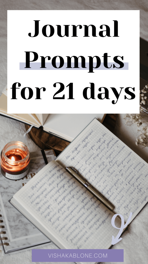 Journal Prompts for 21 days