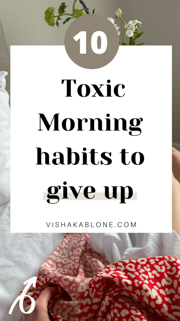 toxic morning habits to give up