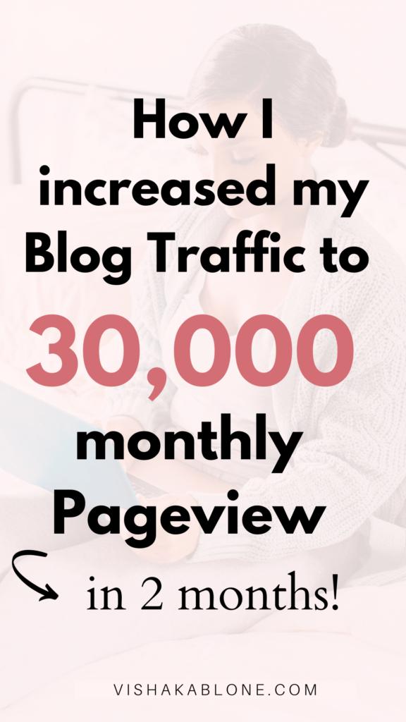 how I increased blog traffic to 30k